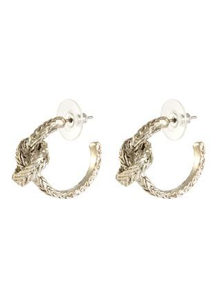 Main View - Click To Enlarge - OSCAR DE LA RENTA - Small braided knot hoop earrings