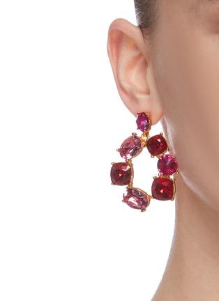 Figure View - Click To Enlarge - OSCAR DE LA RENTA - Bold crystal earrings