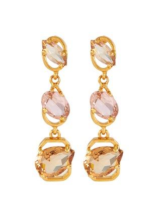 Main View - Click To Enlarge - OSCAR DE LA RENTA - Swarovski crystal drop earrings