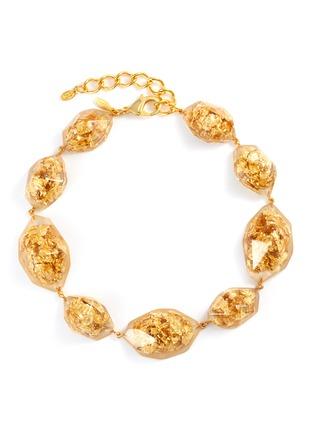 Main View - Click To Enlarge - OSCAR DE LA RENTA - 'Nugget' flake resin necklace