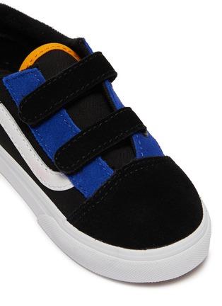 Detail View - Click To Enlarge - VANS - 'Old Skool V' colourblock suede toddler sneakers