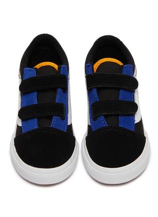 Figure View - Click To Enlarge - VANS - 'Old Skool V' colourblock suede toddler sneakers