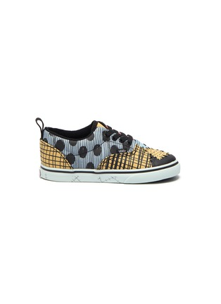Main View - Click To Enlarge - VANS - x Disney colourblocked patchwork canvas toddlers sneakers
