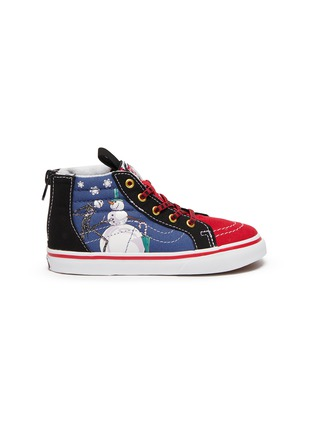 Main View - Click To Enlarge - VANS - 'Christmas Town' zip toddler canvas sneakers