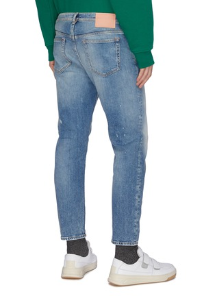 Back View - Click To Enlarge - ACNE STUDIOS - Tapered distressed jeans