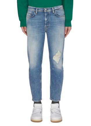 Main View - Click To Enlarge - ACNE STUDIOS - Tapered distressed jeans