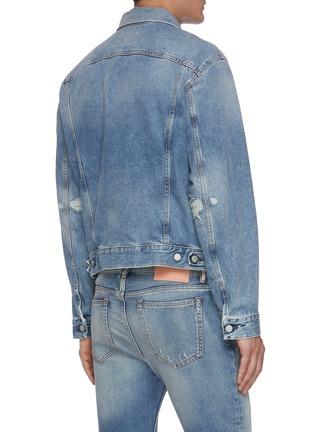 Back View - Click To Enlarge - ACNE STUDIOS - Distressed denim jacket