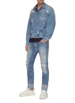 Figure View - Click To Enlarge - ACNE STUDIOS - Distressed denim jacket
