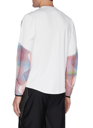 Back View - Click To Enlarge - DYNE - Renzo' graphic sleeve sweatshirt