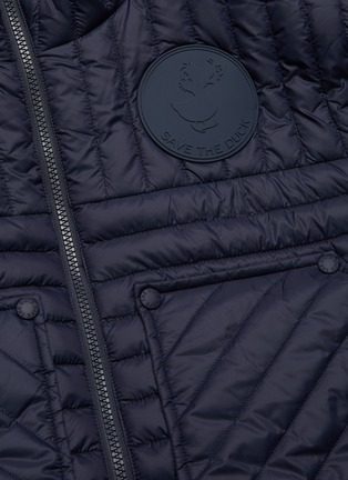- SAVE THE DUCK - 'Gigax' stand collar nylon quilted down jacket