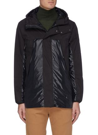 Main View - Click To Enlarge - SAVE THE DUCK - Panelled hooded shell jacket