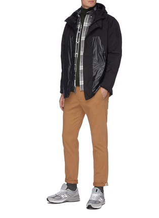 Figure View - Click To Enlarge - SAVE THE DUCK - Panelled hooded shell jacket