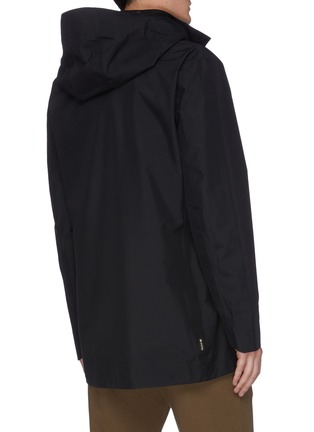 Back View - Click To Enlarge - SAVE THE DUCK - 'Iconex Goretex' hooded long shell jacket