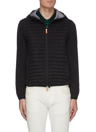Main View - Click To Enlarge - SAVE THE DUCK - 'Mibax' panelled quilted jacket
