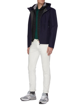 Figure View - Click To Enlarge - SAVE THE DUCK - 'Mibax' panelled quilted jacket