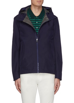 Main View - Click To Enlarge - SAVE THE DUCK - 'Iconx Goretex' hooded short shell jacket