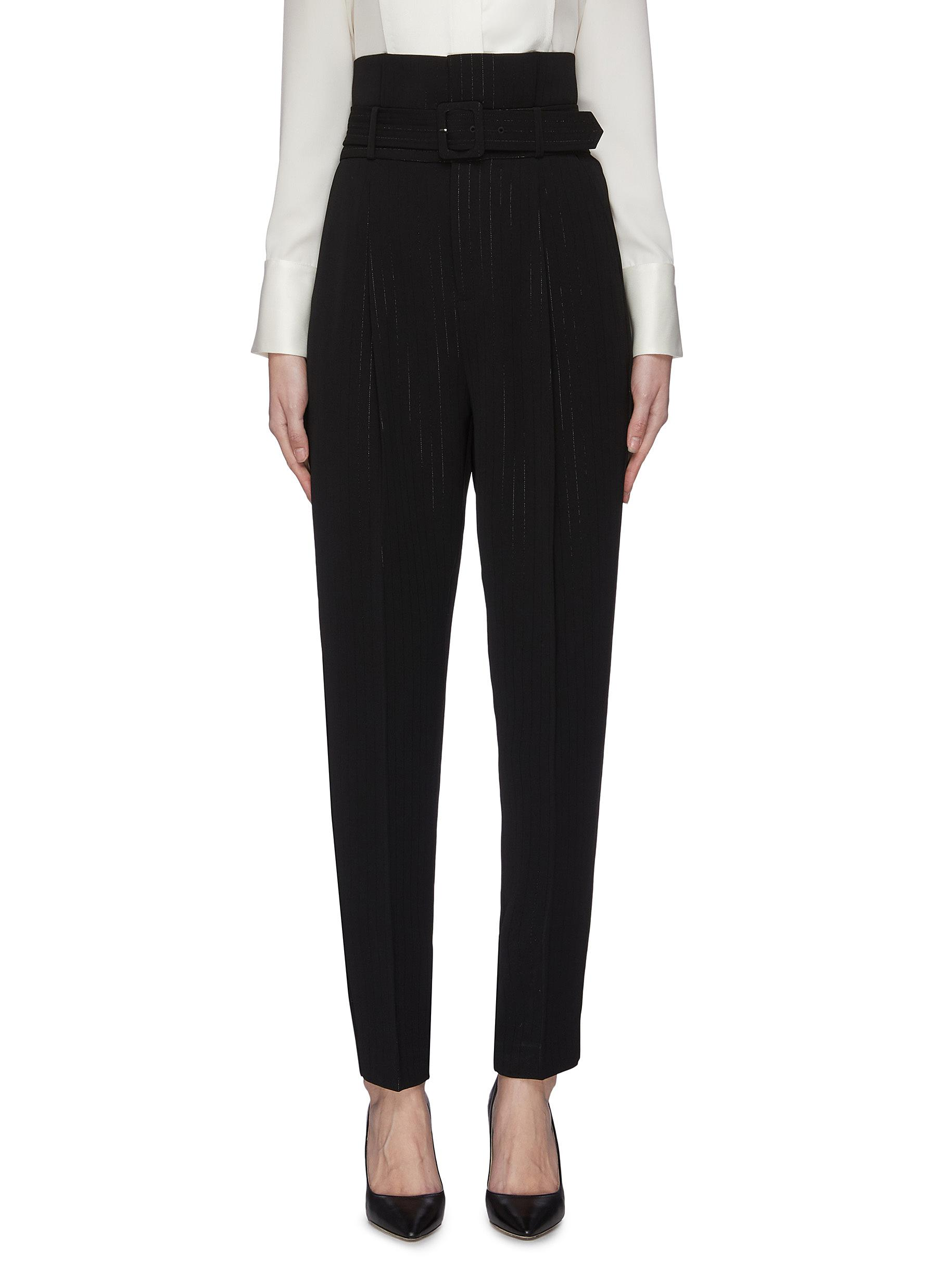 Buy Equipment Pants & Shorts 'Alloisa' belted suiting pants