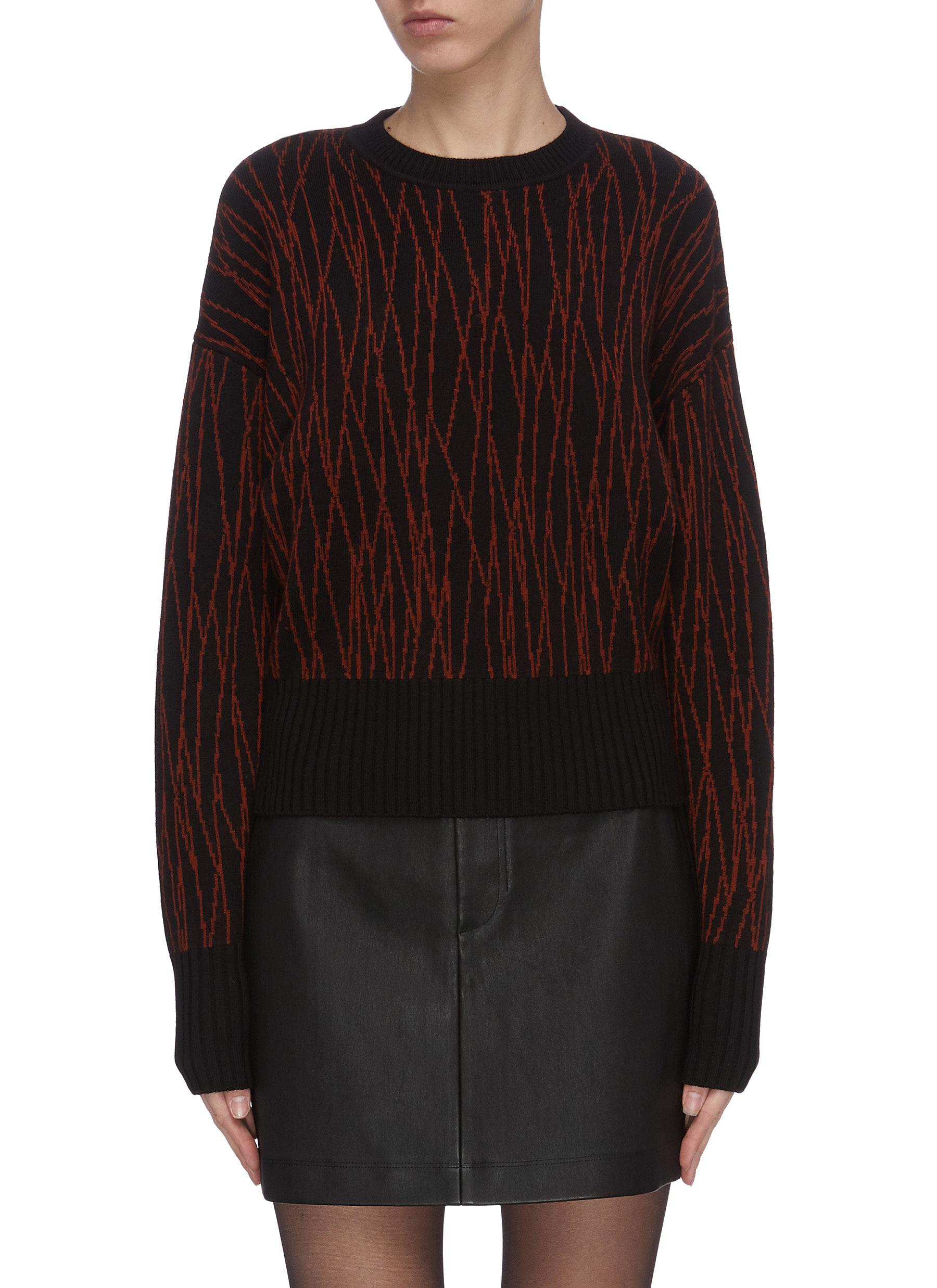 Buy Equipment Knitwear 'Betia' abstract pattern wool knit sweater