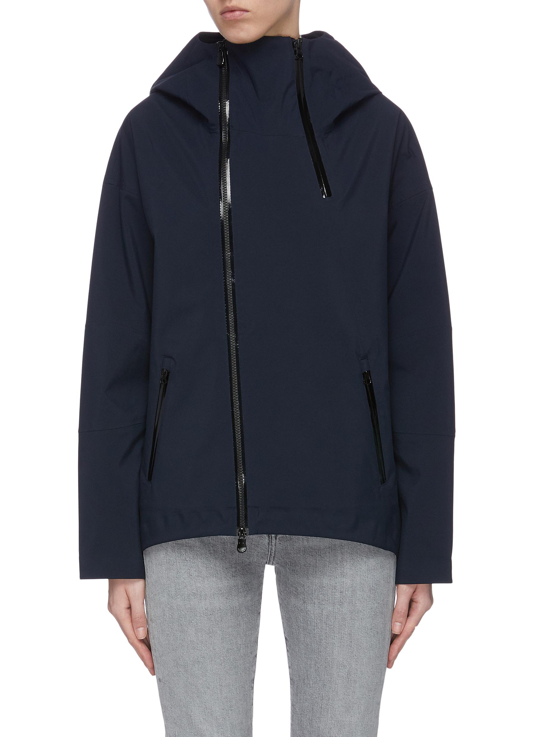 shop Save The Duck 'Grinx' asymmetric zip shell jacket online