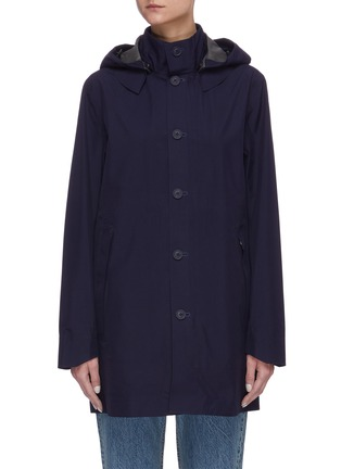 Main View - Click To Enlarge - SAVE THE DUCK - 'Iconx' Hooded long shell jacket