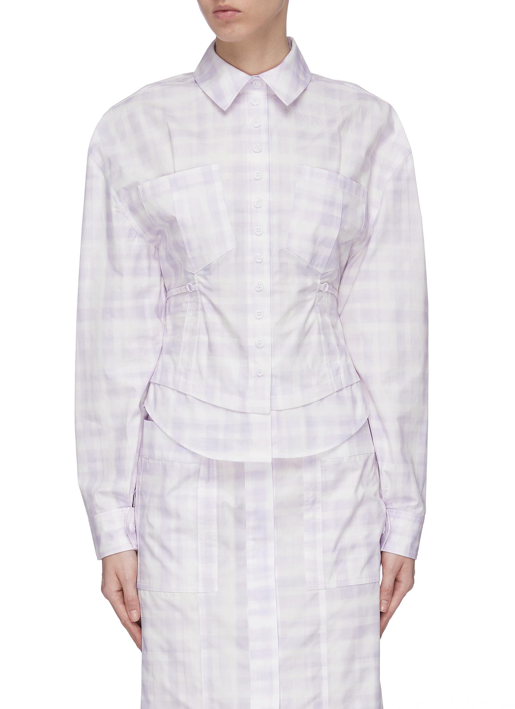 Buy Jacquemus Tops Cut Out Back Check Shirt