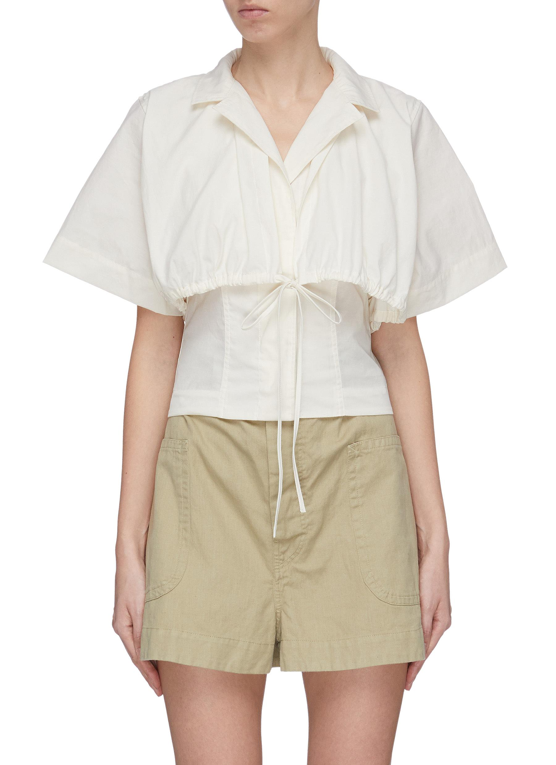 shop Jacquemus Layered Shirt With String Fastening online