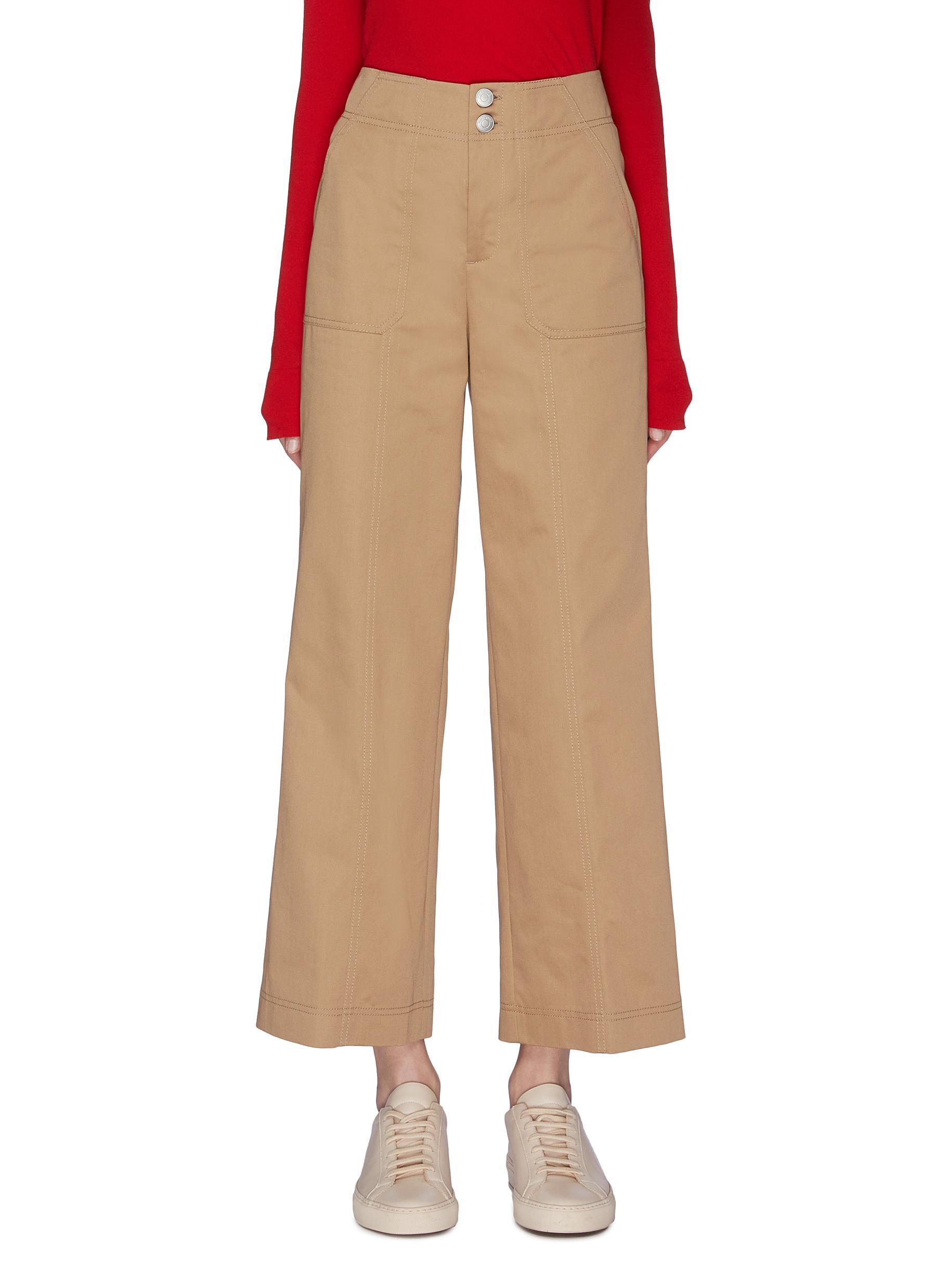 shop Portspure 'Utilitarian' contrast pocket drill pants online