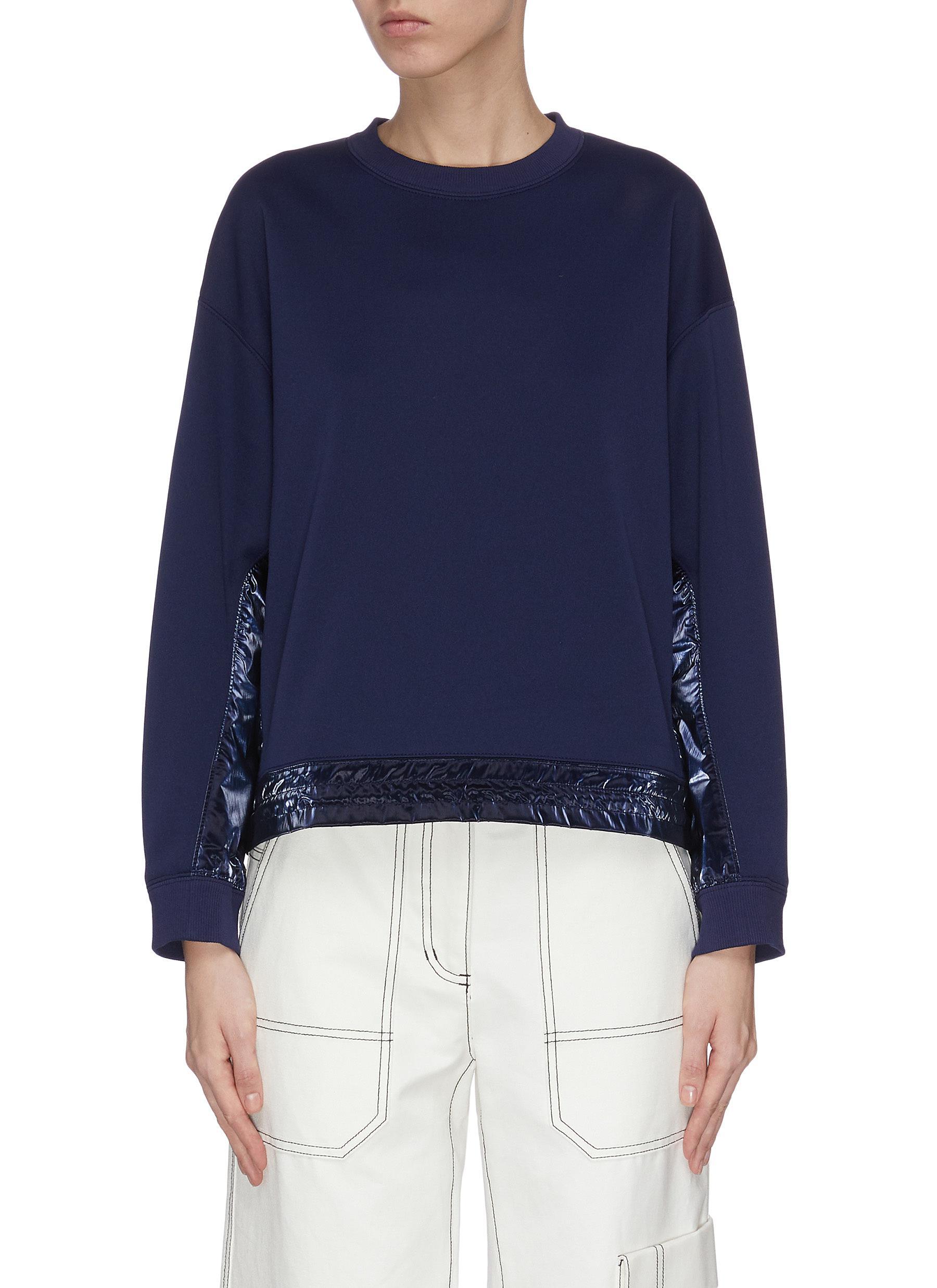 shop Portspure Iridescent drawstring hem sweatshirt online