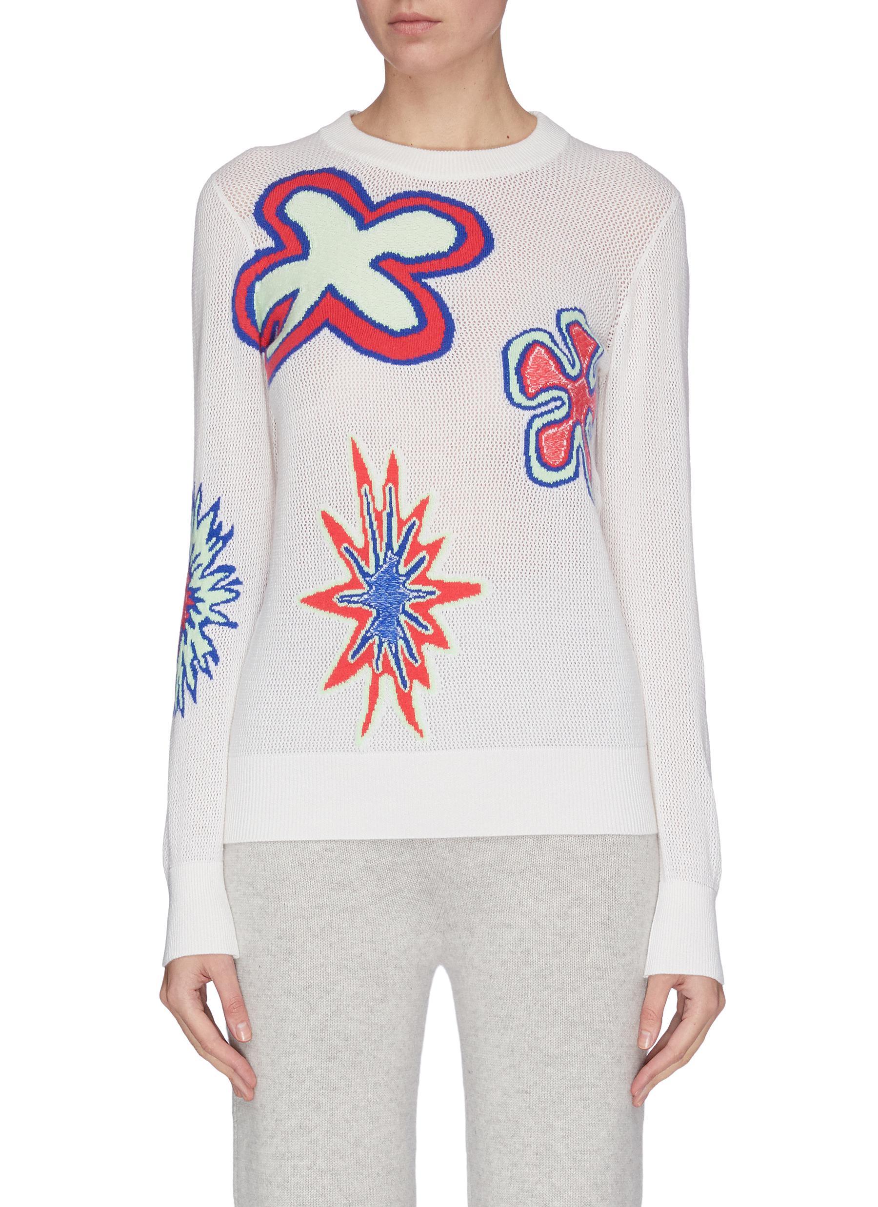 shop Barrie Floral print cashmere blend sweater online