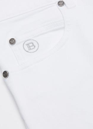 - BALMAIN - Distressed soft wash jeans