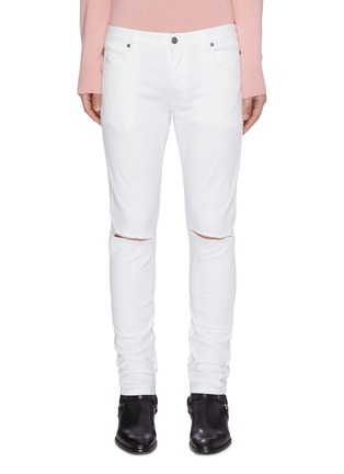 Main View - Click To Enlarge - BALMAIN - Distressed soft wash jeans