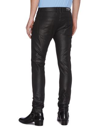 Back View - Click To Enlarge - BALMAIN - Zip detail skinny jeans