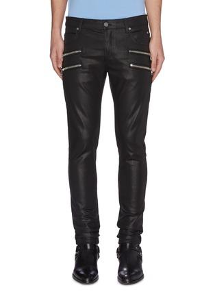 Main View - Click To Enlarge - BALMAIN - Zip detail skinny jeans