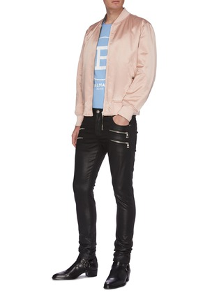 Figure View - Click To Enlarge - BALMAIN - Zip detail skinny jeans