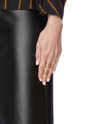 Figure View - Click To Enlarge - SARAH & SEBASTIAN - 'Entangled' Hinge vermeil ring