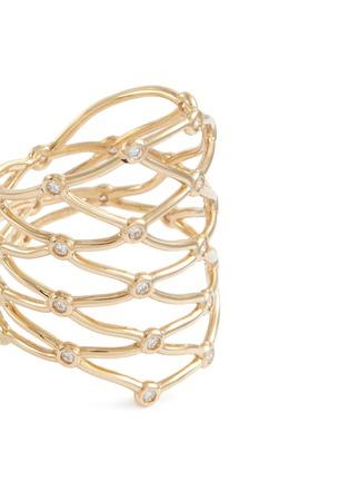 Detail View - Click To Enlarge - SARAH & SEBASTIAN - 'Large Net' diamond ring