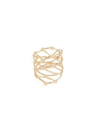 Main View - Click To Enlarge - SARAH & SEBASTIAN - 'Large Net' diamond ring