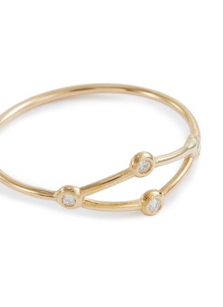 Detail View - Click To Enlarge - SARAH & SEBASTIAN - 'Net' diamond ring