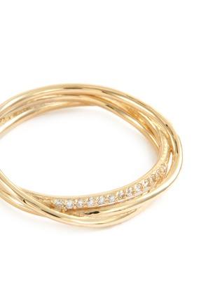 Detail View - Click To Enlarge - SARAH & SEBASTIAN - 'Bound' diamond 10k yellow gold ring