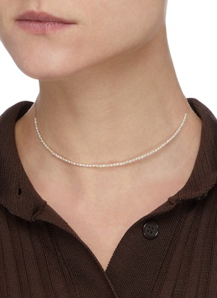 Figure View - Click To Enlarge - SARAH & SEBASTIAN - Akoya keshi pearl 10k gold necklace