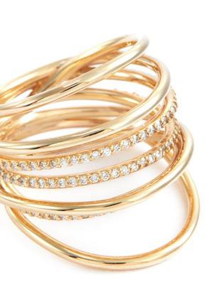 Detail View - Click To Enlarge - SARAH & SEBASTIAN - Diamond 10k gold entangled ring