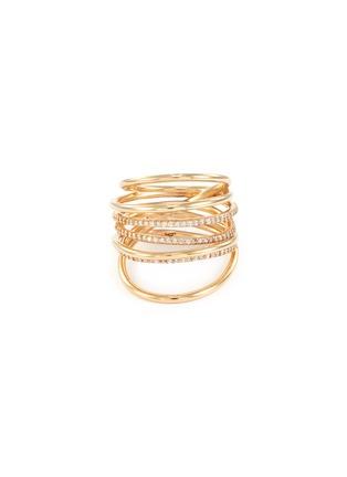 Main View - Click To Enlarge - SARAH & SEBASTIAN - Diamond 10k gold entangled ring