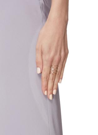 Figure View - Click To Enlarge - SARAH & SEBASTIAN - Diamond 10k gold entangled ring