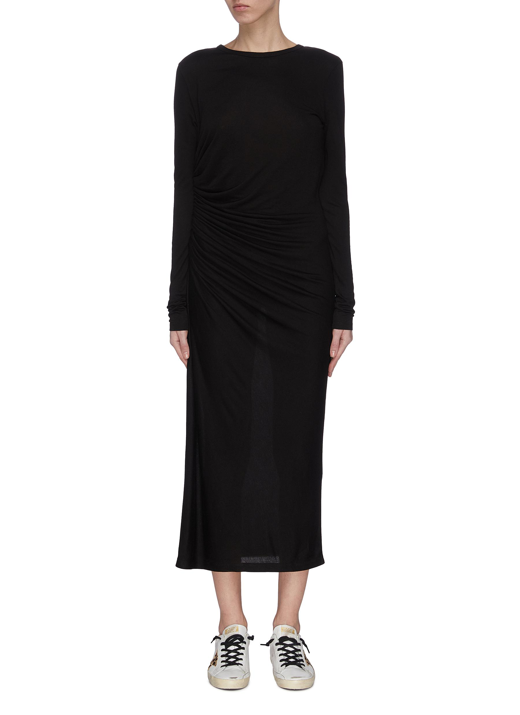 shop Ninety Percent 'Gauge and Tuck' single jersey dress online