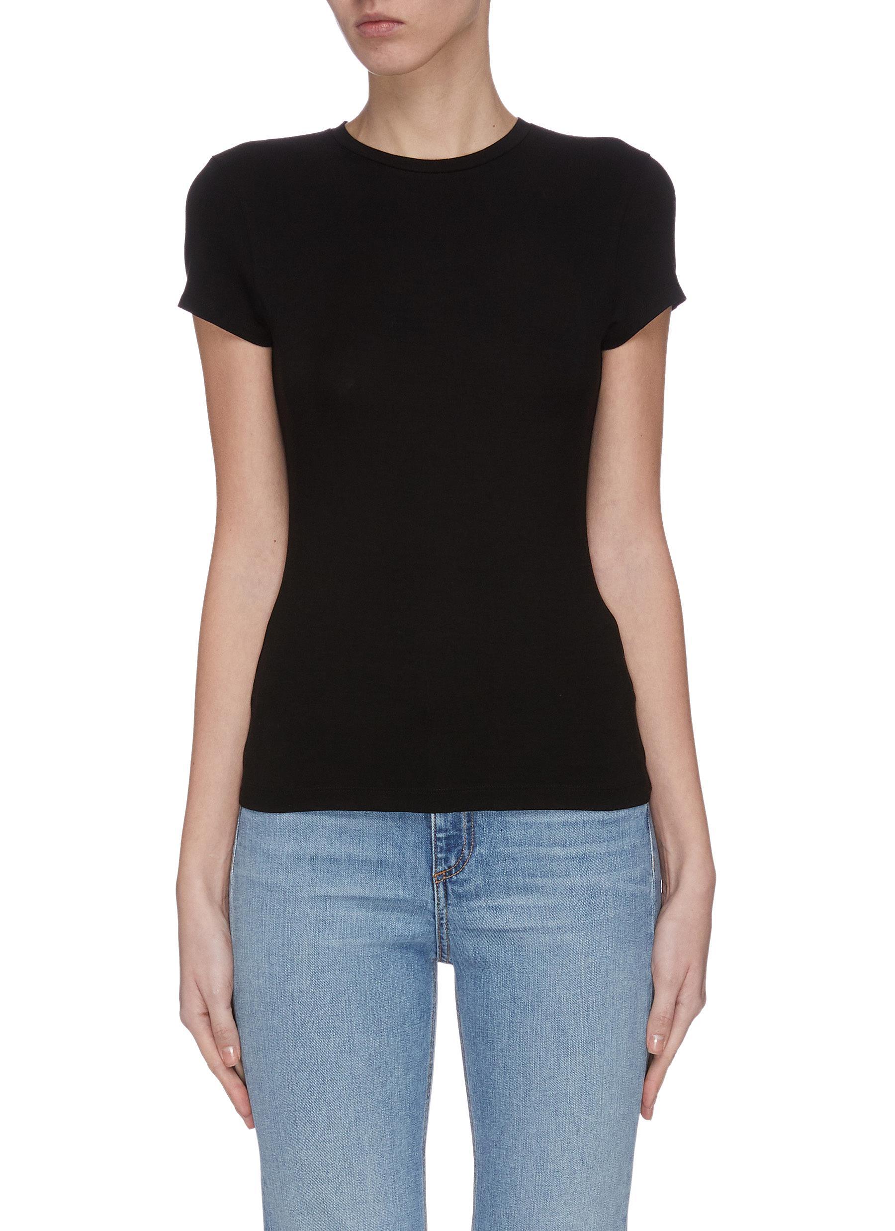 shop Ninety Percent Bodycon crewneck T-shirt online