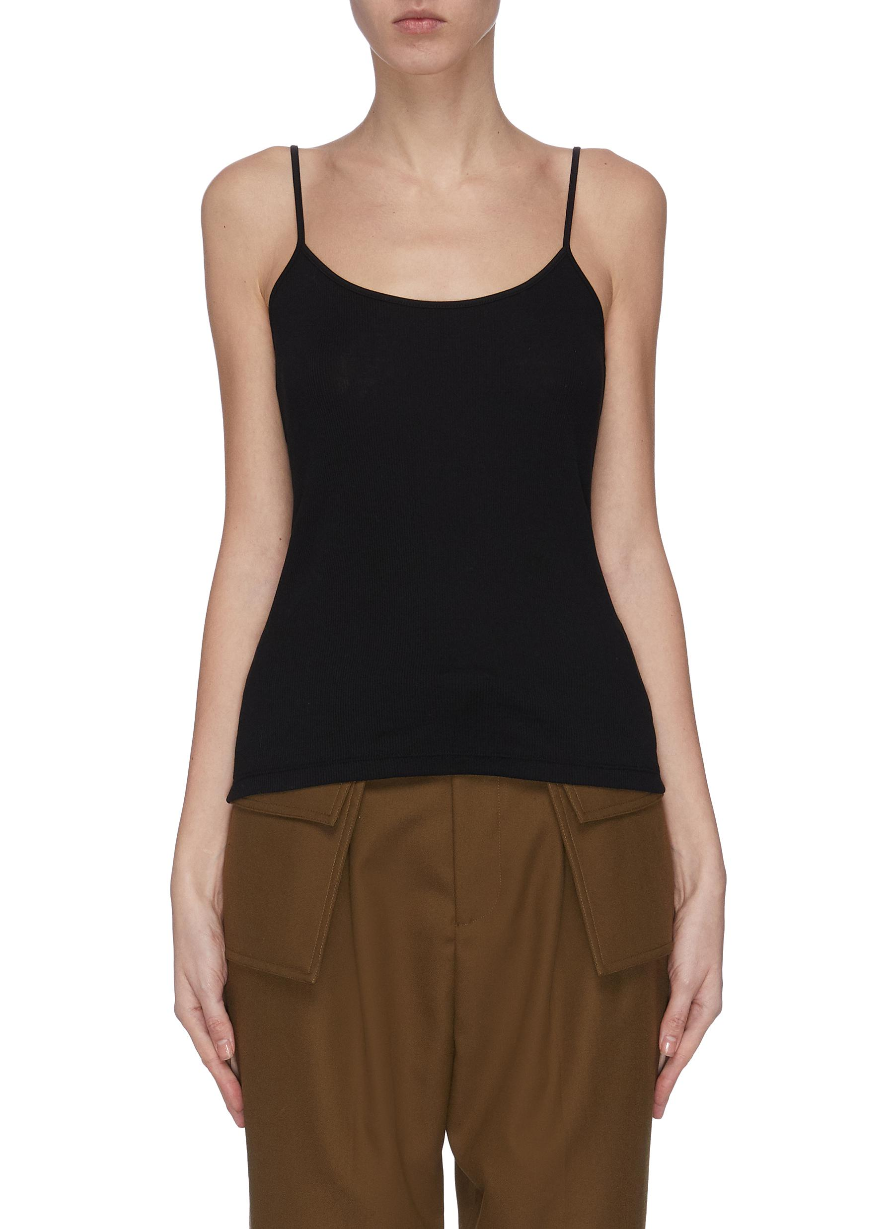 shop Ninety Percent Organic cotton fitted rib camisole online