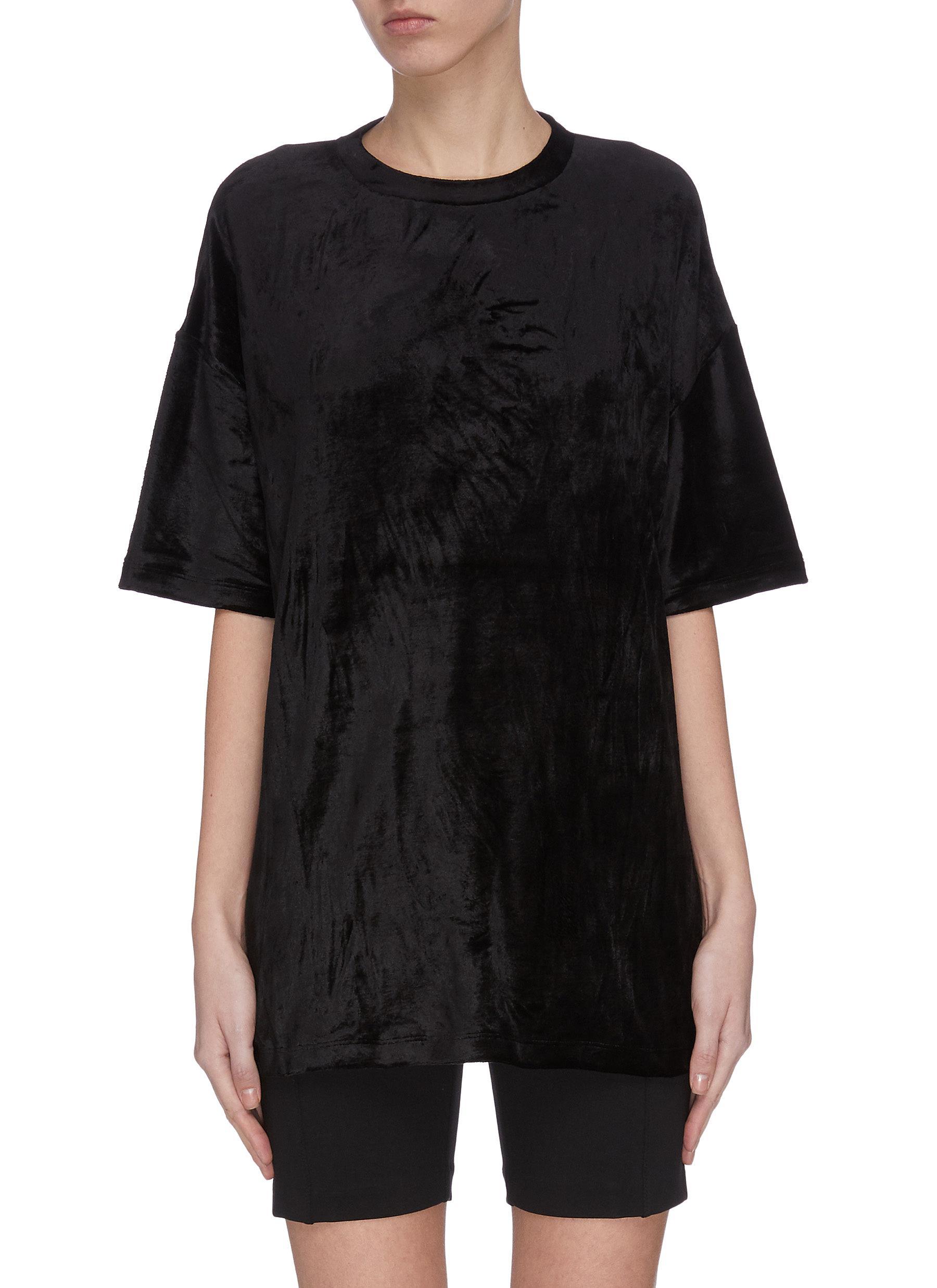 shop Ninety Percent Sustainable velour oversize T-shirt online