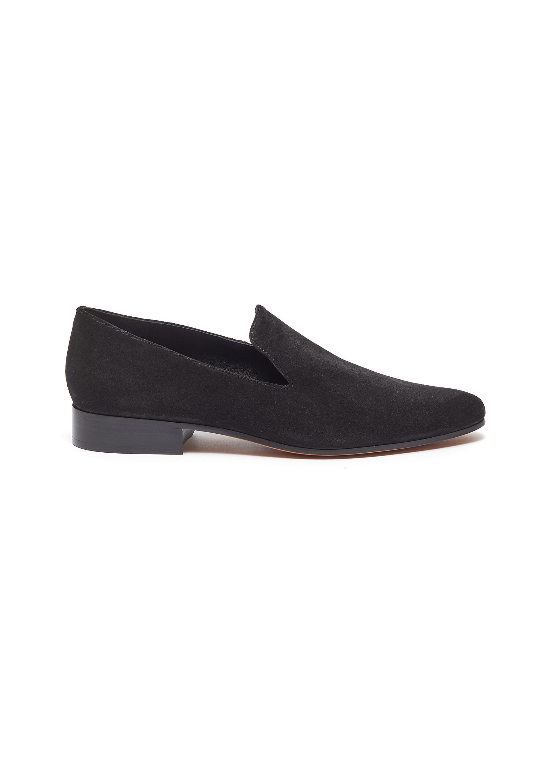 shop Vince 'Lela' suede flat loafers online