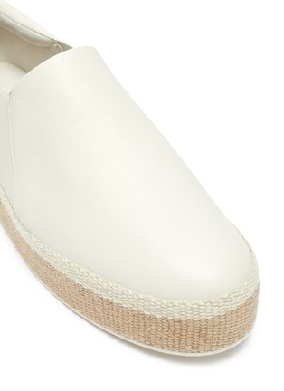 Detail View - Click To Enlarge - VINCE - 'Wilden' leather platform espadrille slip-ons