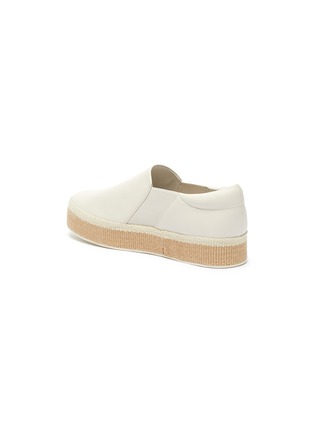 - VINCE - 'Wilden' leather platform espadrille slip-ons